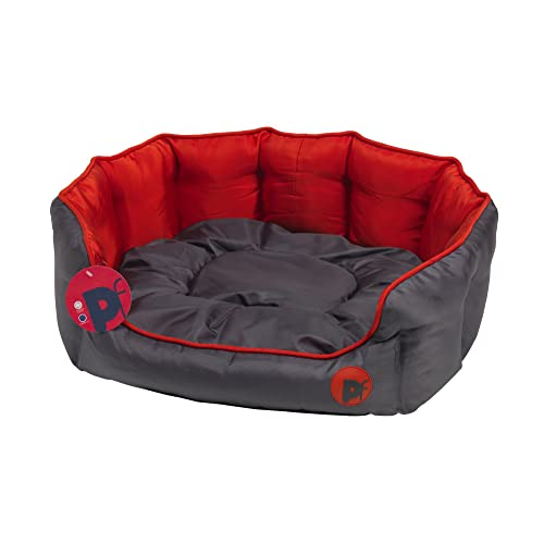 6d64d211e245 Petface Waterproof Oxford Puppy Luxury Oval Bed for Dog, Red, Medium ...