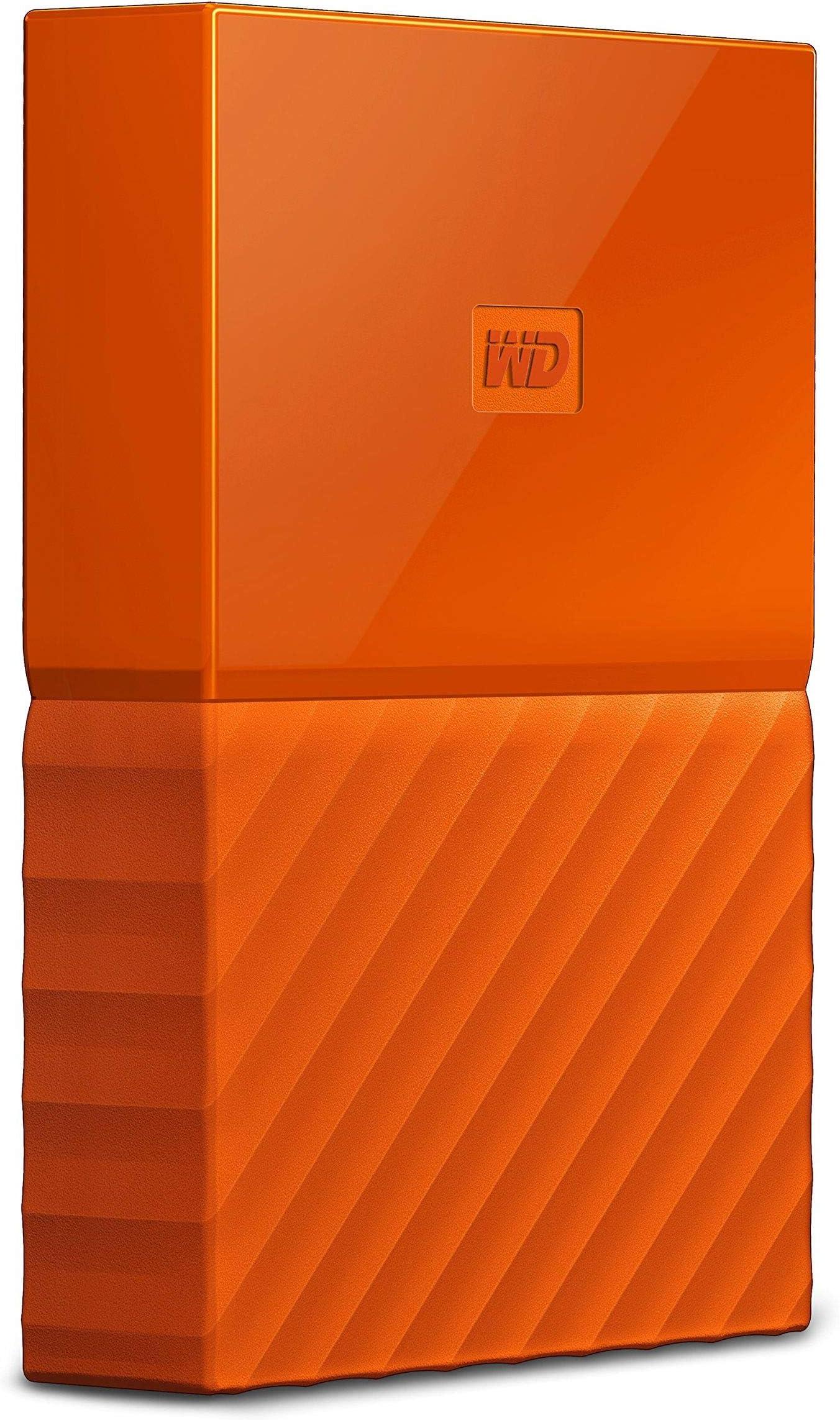 WD 1TB Orange USB 3.0 My Passport Portable External Hard Drive (WDBYNN0010BOR-WESN)