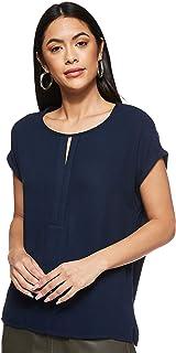 Tom Tailor Women's Fabric Mix Placket T-Shirt