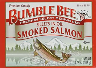 Bumble Bee Smoked Salmon Fillets in Oil 3.75oz can (Pack of 6)