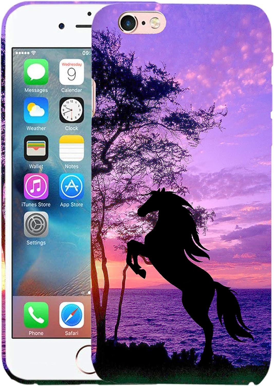 Glisten iPhone 6 Case, iPhone 6S Case - Horse Printed Slim Profile Cute Designer Plastic Hard Snap on Back iPhone 6 Case / 6S Case/Cover