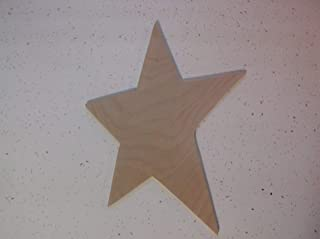 Surprising Wood Shapes Unfinished Wooden Star Wooden Primitive Star Craft Supplies Craft Wood Star July 4th Wood Blanks Star 10.5 H x 8 W