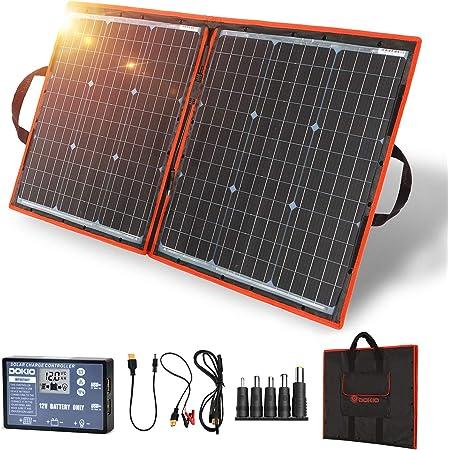 80W Mono Solar Panel Charger Battery Charginig Controller For Boat RV Caravan