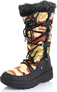 Women's Woman's Knee High Up Warm Fur Water Resistant Eskimo Snow Boots