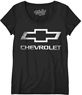 Tee Luv Women's Chevy Shirt - Scoop Neck Chevrolet Logo T-Shirt