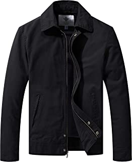 WenVen Men's Work Wear Casual Military Lapel Jacket (Regular & Big-Tall Sizes)