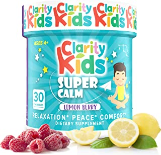 Clarity Kids Super Calm (30 Chewables), A Magnesium Chewable for Comfort, Calm Kids Magnesium for Relaxatio...
