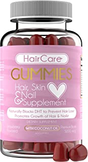 Hair Vitamins - Hair Gummies Easy to Eat - No Capsules, Increase Hair Strength Vitamin - Biotin for Hair Growth, Strong Hair, Grow Hair Skin Nail, Healthy Hair Treatment for Scalp, Stop Hair Loss.