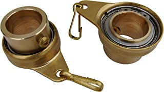 Stanwood Wind Sculpture Non Tangle Flagpole Swivel/Rotating Ring, Brass Spinner with Stainless Steel Bearing - 1