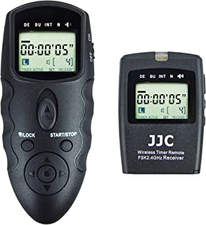 JJC Wireless Intervalometer Timer Remote Control Shutter Release for Sony A6000 A6100 A6300 A6400 A6500 A6600 A1 A7 A7II A7III A7R A7RII A7RIII A7RIV A7S A7SII A9 RX100 VII VI VA IV III ZV-1 & More