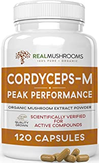 Sponsored Ad - Real Mushrooms Cordyceps Peak Performance Supplement for Energy, Stamina, Endurance (120ct) Non-GMO, Vegan ...