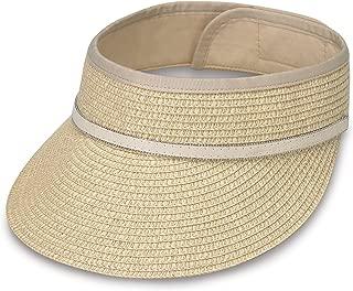 Wallaroo Hat Company Bianca Visor - Women's Hat - 100% Paper Braid