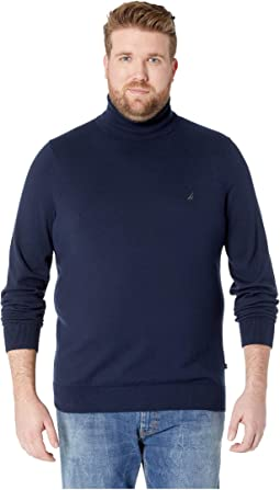 Big & Tall Jersey Turtleneck