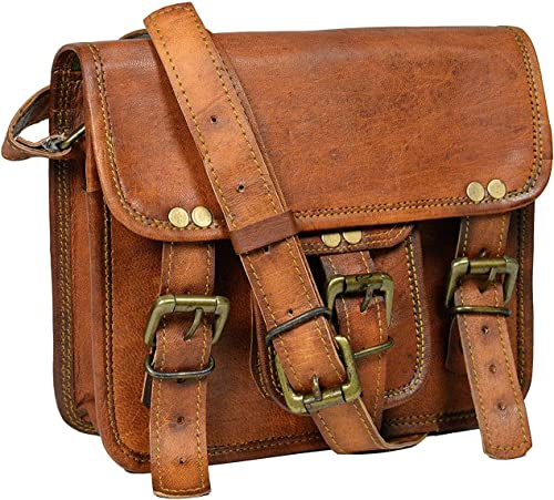 9 inch Leather Sling Bag Girl Woman