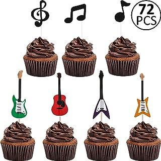 guitar pick cupcakes