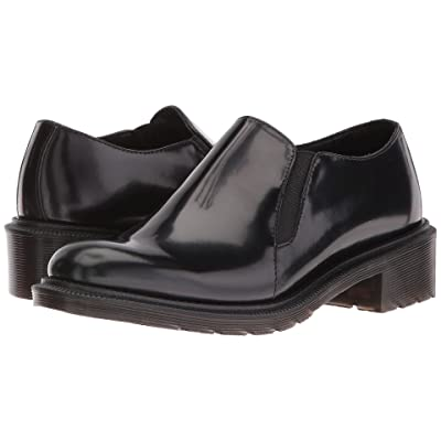 Dr. Martens Rosyna Double Gusset Shoe (Black Waxed Polished Smooth) Women