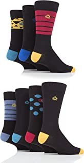 Jeff Banks Mens Triangles, Stripes and Dots Cotton Socks Pack of 7