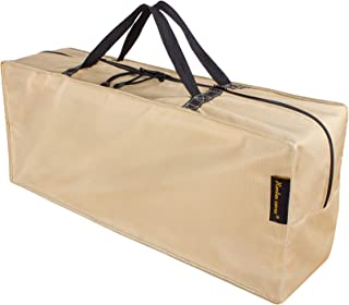 """HENTEX Cushion Cover Storage Bag, Outdoor Zippered Storage Bags with Handles, 48""""L×16""""W×22""""H, Khaki"""