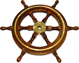 INI-Replicas Pirate Wheel Marine Steering Wheels Pirate Ships Boat Steering Wheel Ship Wheel Decor Nautical Wheel Steering Wheel on a Boat (18 inch Dia)