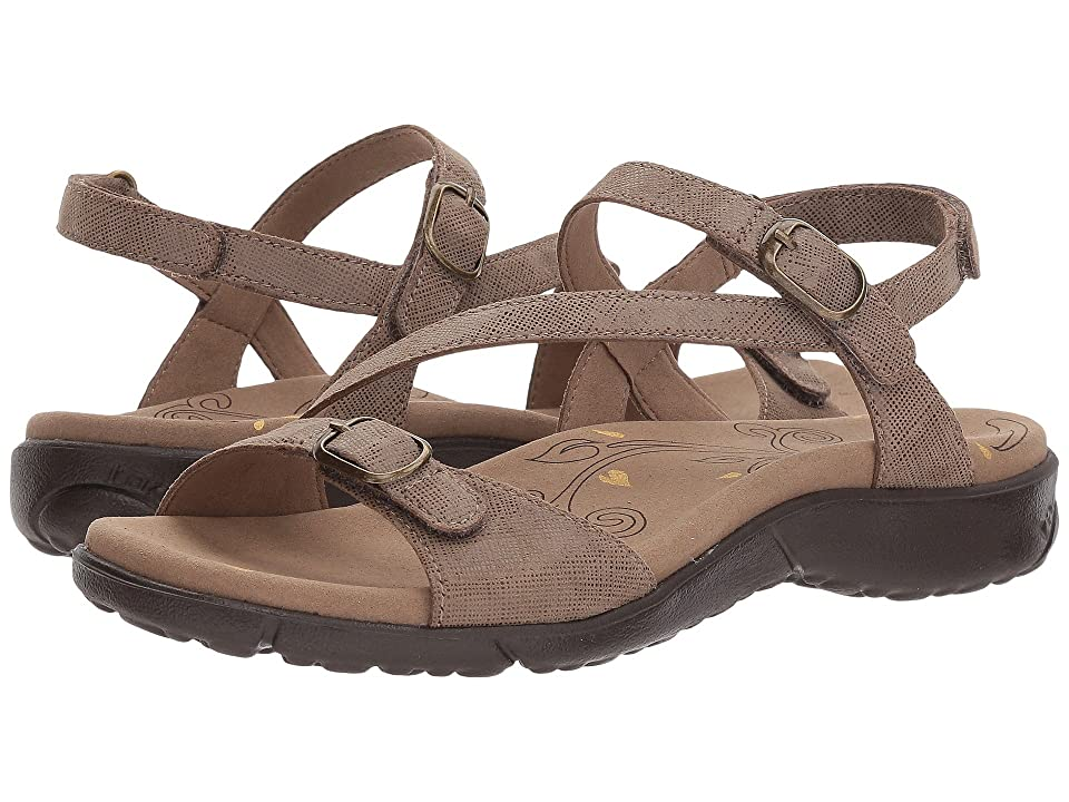 Taos Footwear Beauty (Taupe Printed Leather) Women