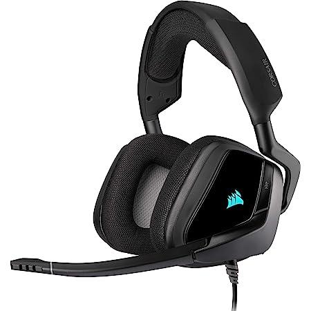 Corsair VOID ELITE RGB USB Auriculares para Juegos, Cableado, USB, (7.1 Sonido envolvente, Micrófono omnidireccional, Personalizable Iluminación, Microfibra de rejilla almohadillas) Negro