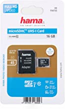 DURAGADGET HAMA MicroSDHC Class UHS-I Memory Card  with MicroSD Adapter  Compatible with Samsung Galaxy A70 A70s A8s A90 Smartphones