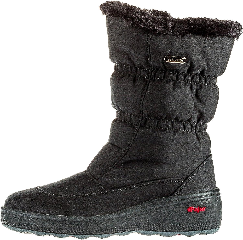 Pajar Women's Snowcap 2 Waterproof Fur Pull-On All-Weather Boots