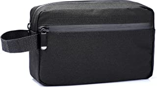 Toiletry Bag for Men, Portable Travel Toiletry Organizer Bag,Shaving Bag for Toiletries Accessories (Black)