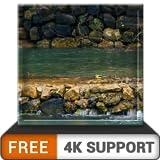 cascata libera natura HD - goditi gli splendidi scenari sulla tua TV HDR 4K, TV 8K e dispositivi di fuoco come sfondo, decorazione per le vacanze di Natale, tema per la mediazione e la pace