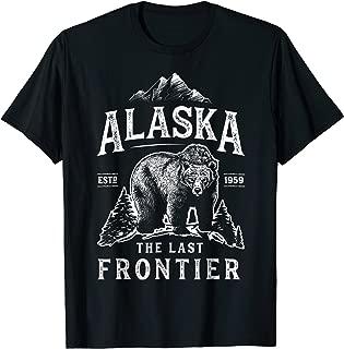 Alaska T Shirt The Last Frontier Bear Home Men Women Gifts
