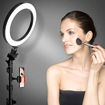 Selfie Ring Light with Tripod Stand & Cell Phone Holder for Live Stream/Makeup, UBeesize Mini Led Camera Ringlight fo...