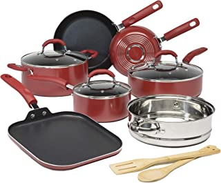 Sponsored Ad - Goodful Premium Non-Stick Cookware Set, Dishwasher Safe Pots and Pans, Diamond Reinforced Coating, Made Wit...