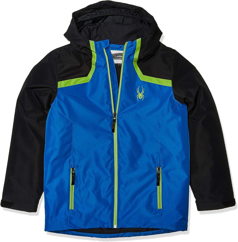 Spyder Boys Flyte Jacket – Kids Hooded C Winter Zip 100% quality warranty Full Apparel NEW