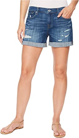 7 For All Mankind - Mid Roll Shorts w/ Destroy in Broken Twills Desert Trails 3