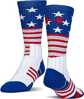 Under Armour Adult Unrivaled Stars & Stripes Crew Single Socks