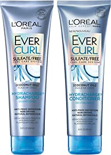 L`Oréal Paris EverCurl Shampoo & Conditioner Kit for Curly Hair, 8.5 Ounce, Set of 2 (Packaging May Vary)