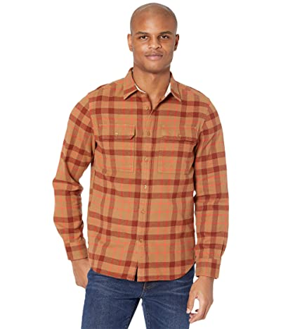 The North Face Arroyo Flannel Shirt (Utility Brown Heritage Medium Three-Color Plaid) Men