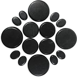 Hot Stones Massage Set 16 Pieces with Pouch for Body & Foot Massage Natural Basalt Stone Professional or At-Home Use B079K9VFS9