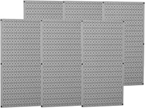 product image for Wall Control Industrial Metal Pegboard - Gray, Six 16in. x 32in. Panels, Model Number 35-P-3296GY