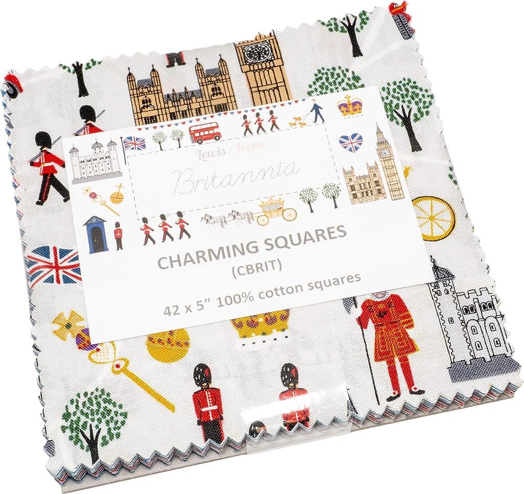 Britannia Charming Squares 42 5-inch Squares Charm Pack Lewis & Irene