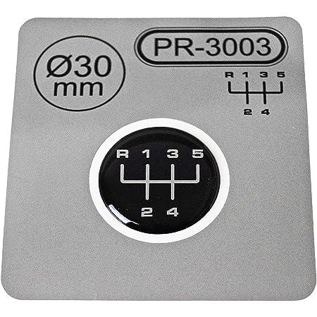 1x Schalthebel Aufkleber Durchmesser 30 Mm 6 Gang Schaltknauf Emblem Silikon Sticker Schema 1 Auto