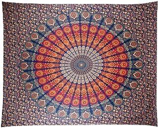 comprar comparacion Anyasen Tapiz de pared mandala Tapestry Tapices tapiz hippie diseño de pavo real psicodélico colgante de pared bohemio Dor...