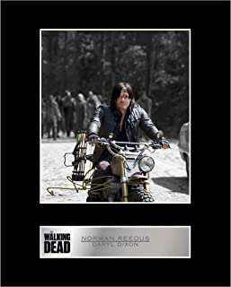 iconic pics Norman Reedus, Daryl Dixon Signed Mounted Photo Display Walking Dead