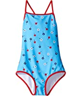 Oscar de la Renta Childrenswear - Mini Daisy Toss Classic Swimsuit (Toddler/Little Kids/Big Kids)