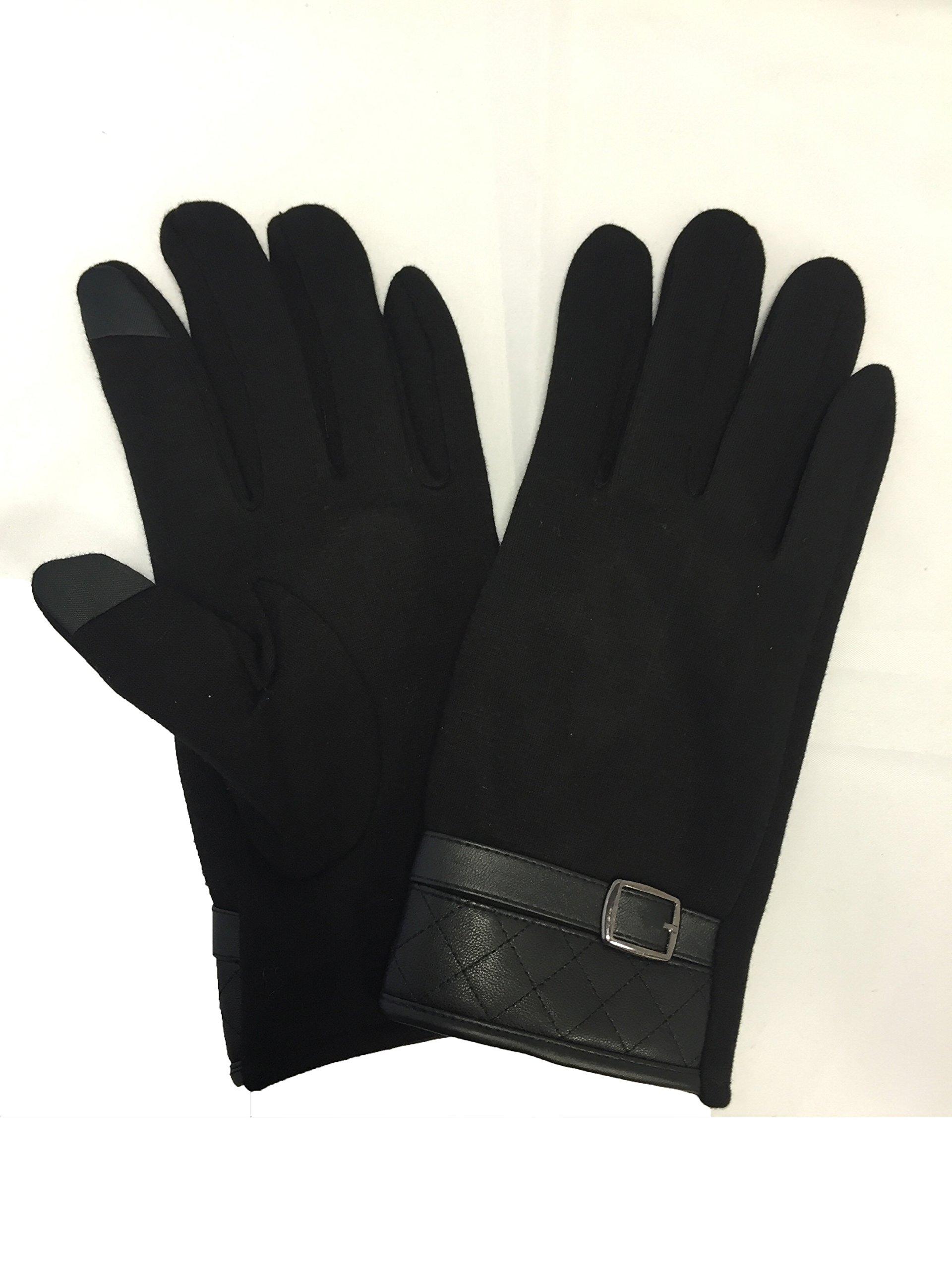 Guantes táctiles para pantalla táctil (algodón, negro: Amazon.es: Electrónica