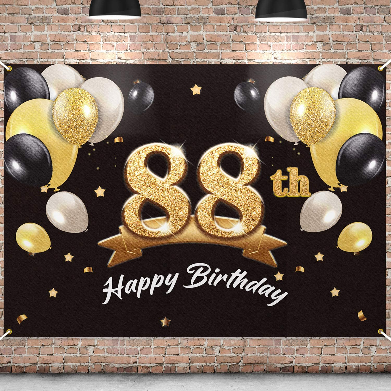 PAKBOOM Happy 88th Birthday Banner Party Jacksonville 4 years warranty Mall 88 Backdrop -