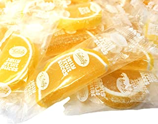 CrazyOutlet Pack - Funtasty Jelly Fruit Slices, Lemon Flavored Individually Wrapped Bulk Candy, 2 Lbs