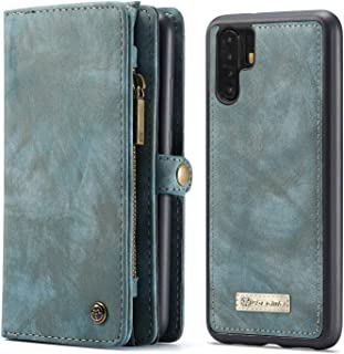 For Huawei P30 Pro CaseMe Flip Leather Wallet Case Cover - Green