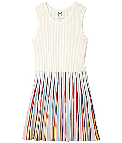 Milly Minis Flared Godet Dress (Big Kids) (White Multi) Girl