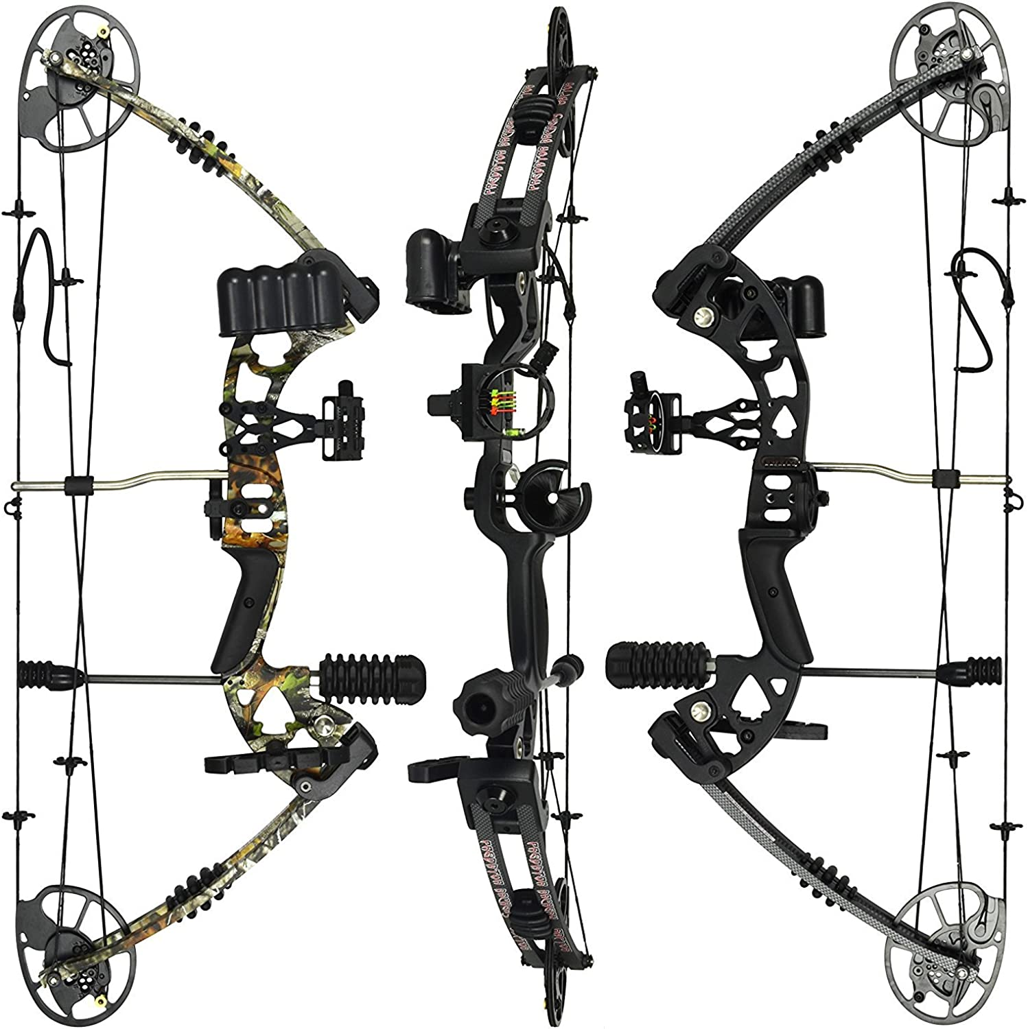 XGeek Compound Bow Package,M1,19 30  Draw Length,1970Lbs Draw Weight,320fps